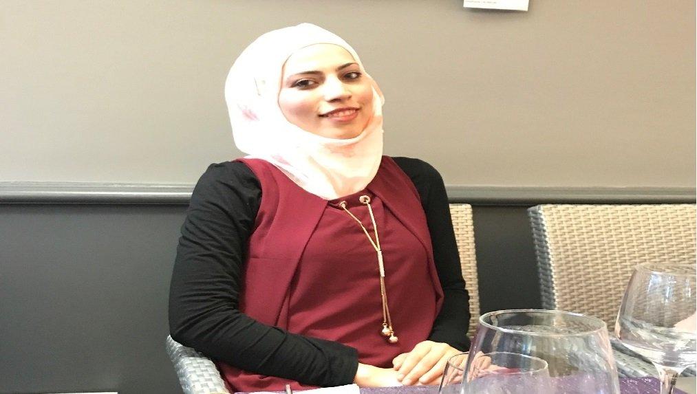 الطالبة الفلسطينية لجين/ خاص