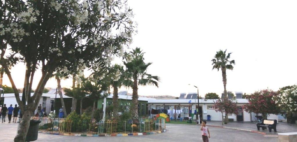 مركز إيواء اللاجئين المؤقت في مدينة مليلية الاسبانية حيث تعيش عفاف وعائلتها