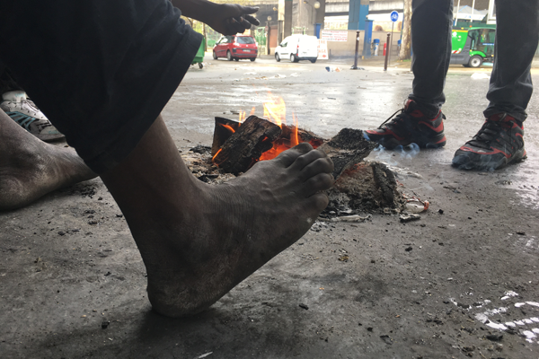 Les migrants se plaignent des vols des toxicomanes Crdit  InfoMigrants