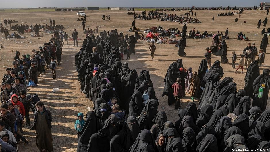 Some people have been able to flee from their IS captors in Baghouz  Photo Getty ImagesAFPBKilic