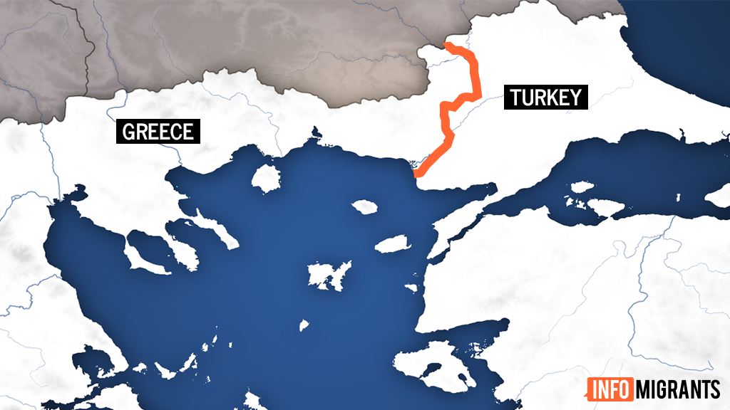 The Evros River forms a natural border between Greece and Turkey for around 200 km to the Aegean Sea