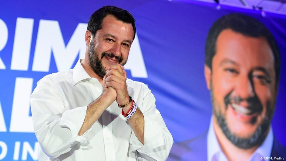 ماتئو سالوینی وزیر داخله و رهبر حزب دست راستی لیگ ایتالیا