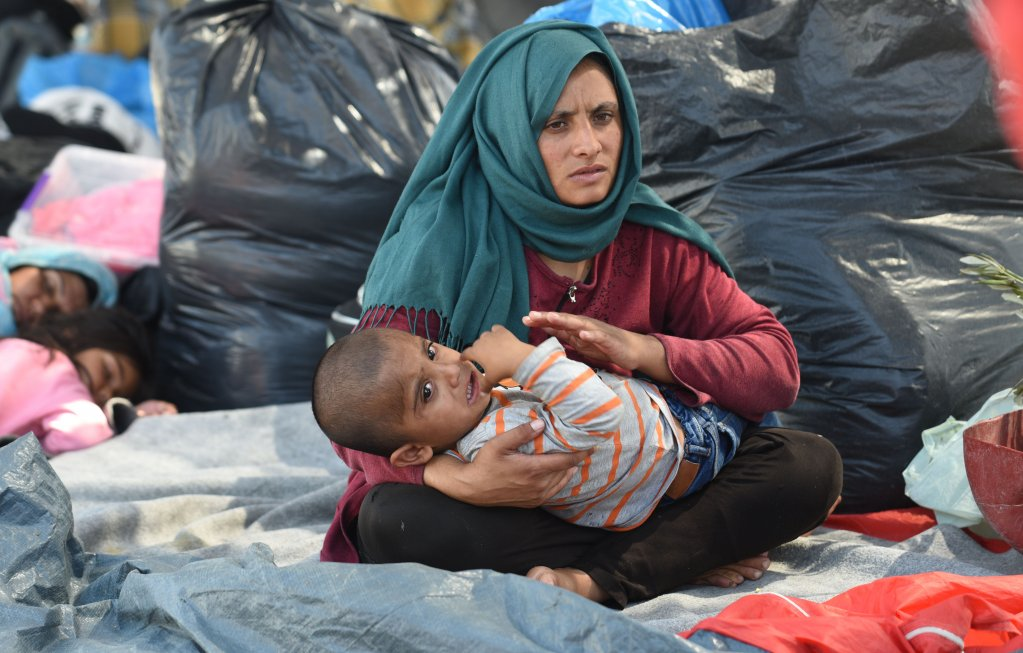 According to UNICEF there were more than 4000 children in the former Moria camp  PHOTO UNICEF