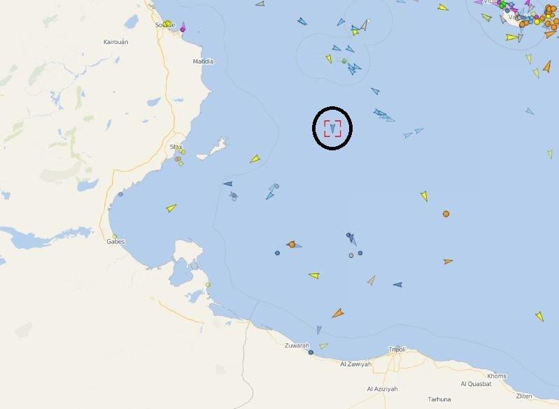 Le Mare Jonio entre Lampedusa et les ctes tunisiennes le matin du 8 mai 2019