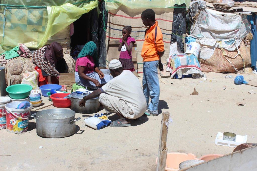 Image d'archives de migrants en Algérie. Crédit : Ansa