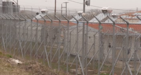 Detention center outside the village of Kastanies Greece March 8 2020  Source Screenshot APTN