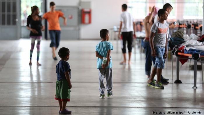 Un centre dhbergement pour rfugis en Allemagne