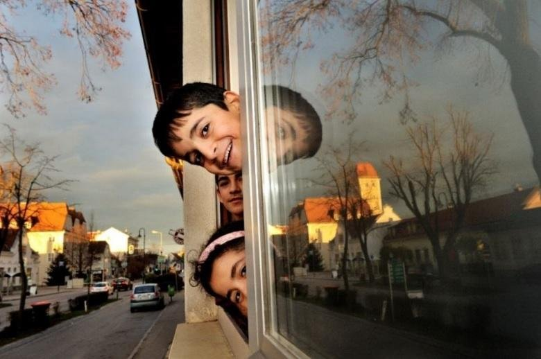 Refugee Children finding a new home in Austria. Credit: UNHCR/M.Henley