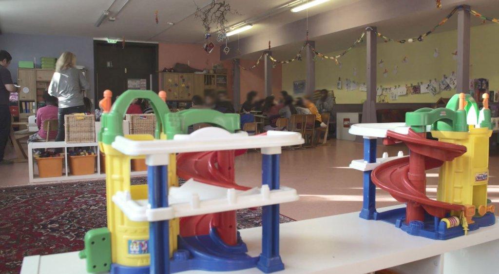 The kindergarten at Donauwörth anchor center   Credit: Hossein Kermani