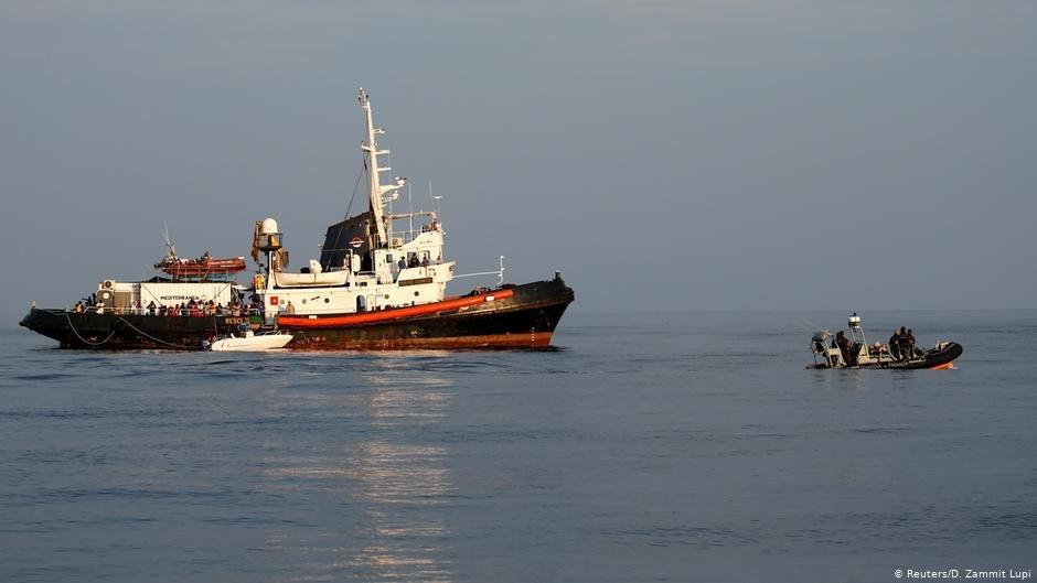 Rescue ship Mare Jonio in the Mediterranean  Photo ReutersD Zammit Lupi