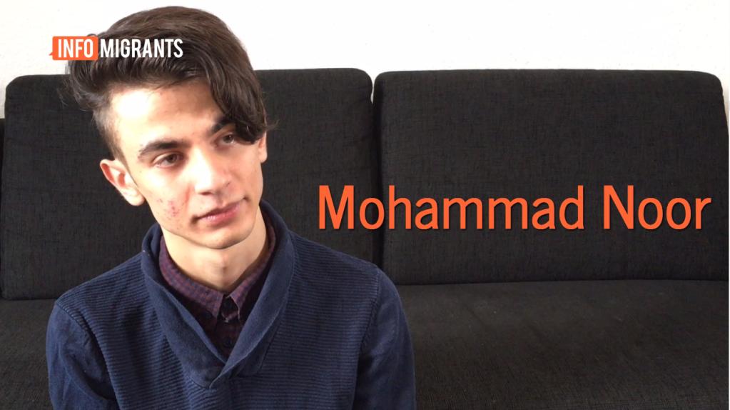 محمد نور قاصر سوري يعيش في مدينة كولونيا ويأمل أن يصبح مدرسا