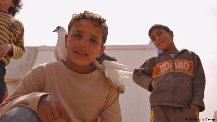 Boys in Zaatari camp, Jordan / Photo by Gessie George