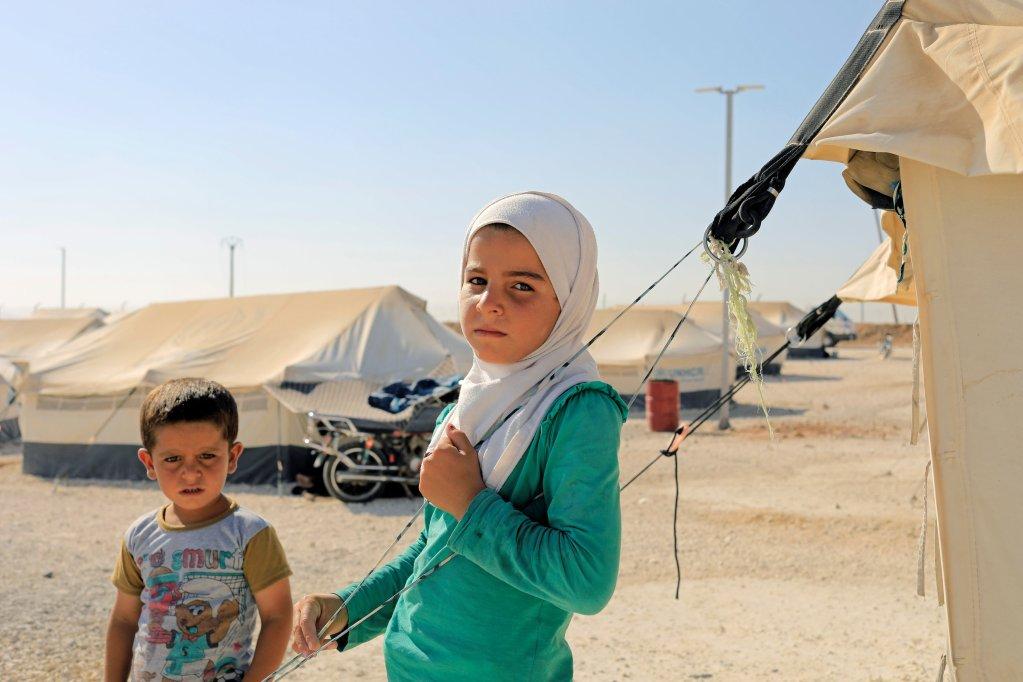 REUTERS/Zohra Bensemra |Des déplacés dans le camp de réfugiés de Ain Issa, au nord de Rakka, le 12 août 2017.