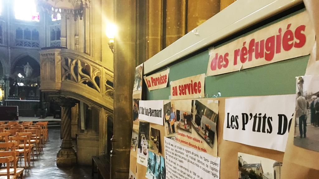 L'église Saint-Bernard s'investit aux côtés des sans-papiers depuis de nombreuses années. Crédit : InfoMigrants
