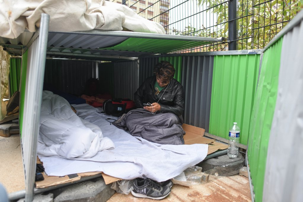 An Afghan migrant in Paris in his shelter in August 2018  Photo Mehdi Chebil