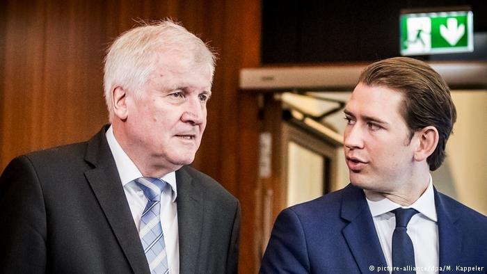 German Interior Minister Horst Seehofer meets Austrian chancellor Sebastian Kurz