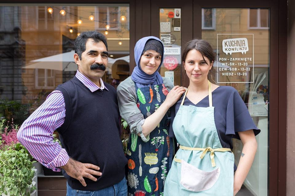 Zura from Chechnya center had been working with them for 2 years and a half  Credit ConflictKitchen