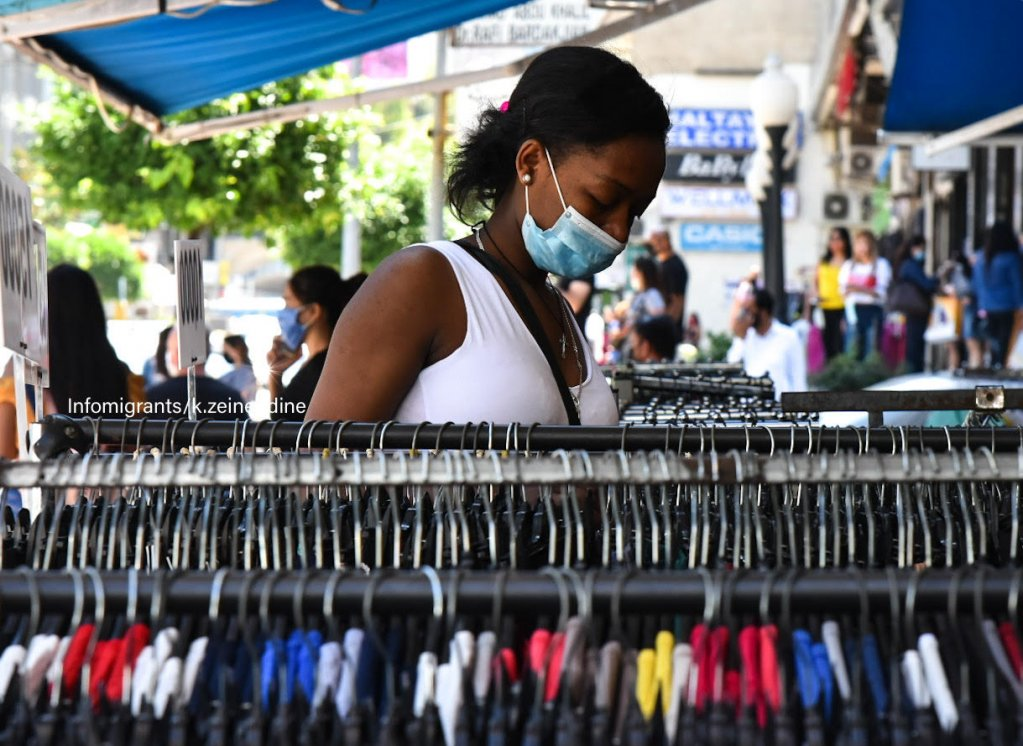 Rosy not her real name is one of the migrant domestic workers who spoke to InfoMigrants Arabic Here she is buying a present for a friend who has lost her job  Photo KZeneddine InfoMigrants  DW
