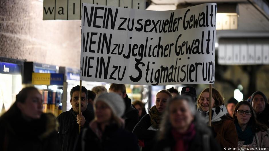 مظاهرات في فرايبورغ بعد حادث الاغتصاب الجماعي