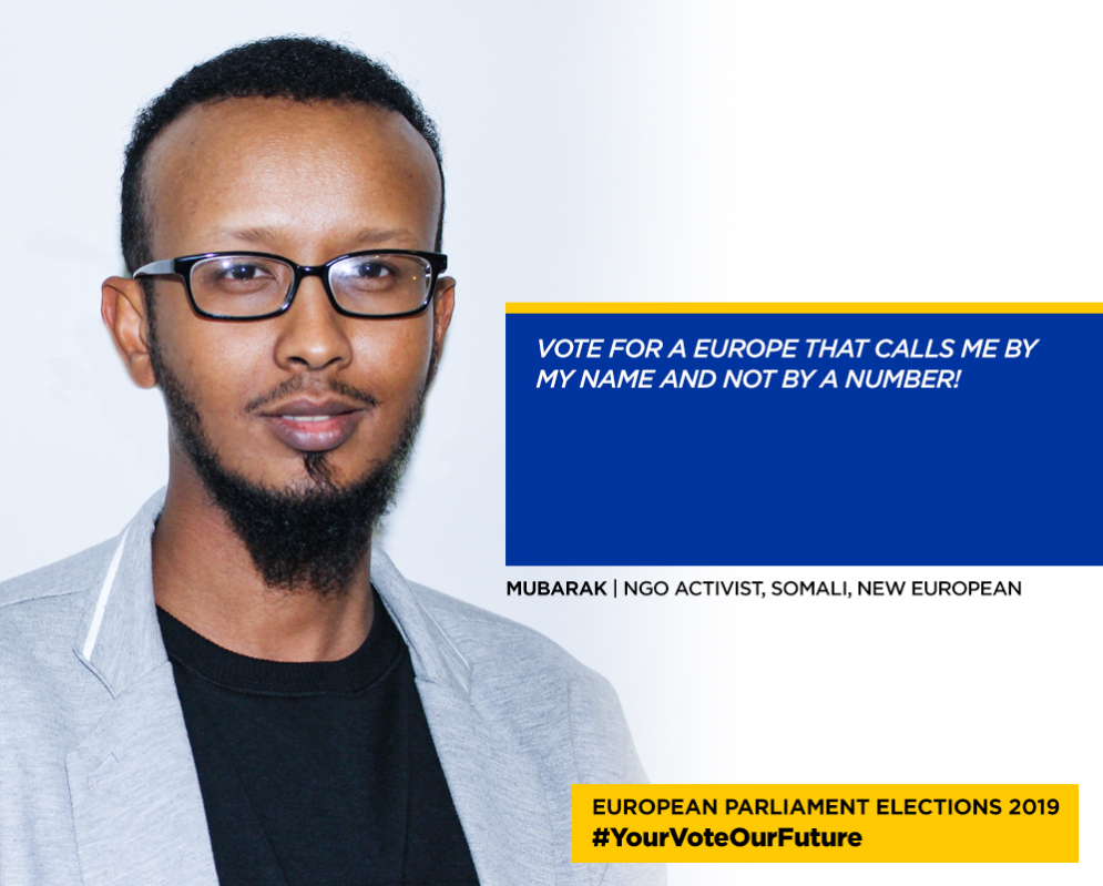Screenshot from the ECRE campaign Your vote our future