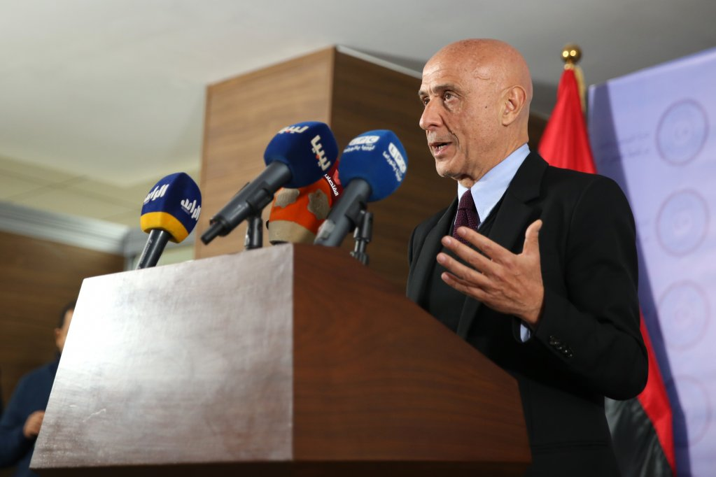 STR / AFP  Le ministre italien de l'Intérieur, Marco Minniti, lors d'une conférence de presse à Tripoli en Libye, le 9 janvier 2017.