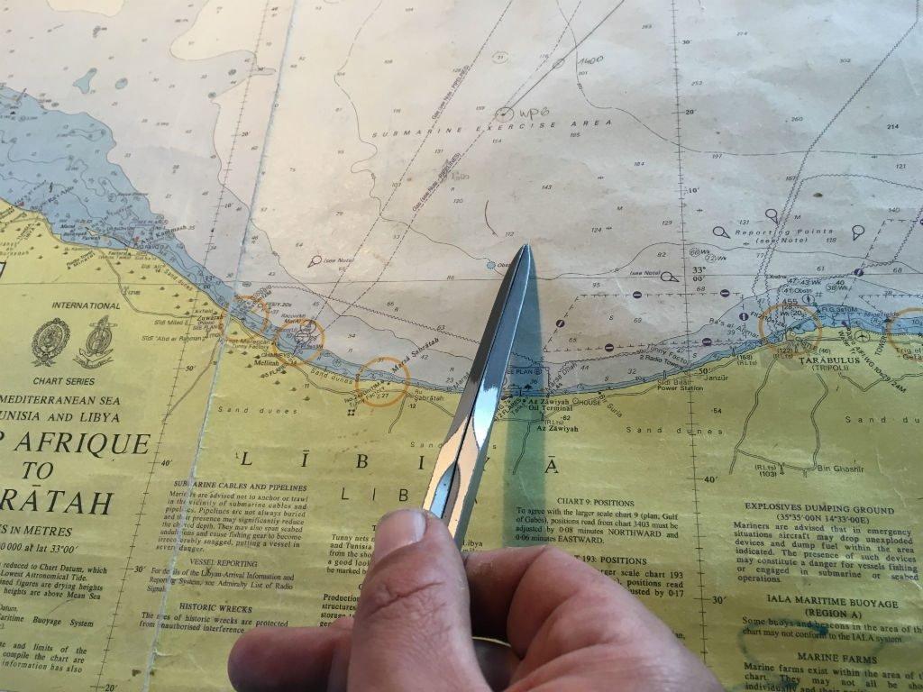 L'Aquarius est actuellement entre Sabratha et Tripoli. Crédit : Charlotte Boitiaux