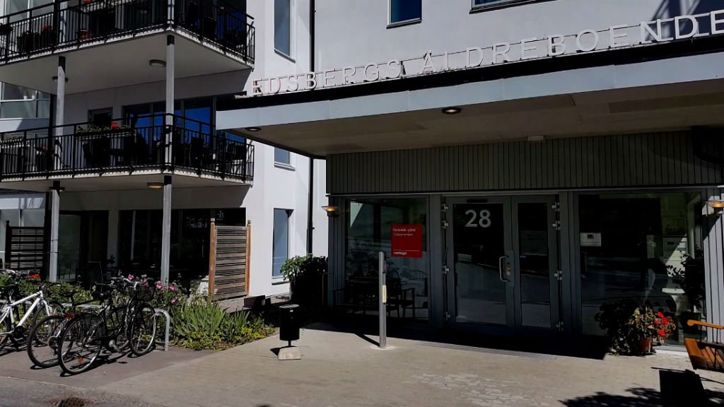"""Le centre d'accueil """"Varljus"""" à Sollentuna, en Suède. Crédit : Charif Bibi"""