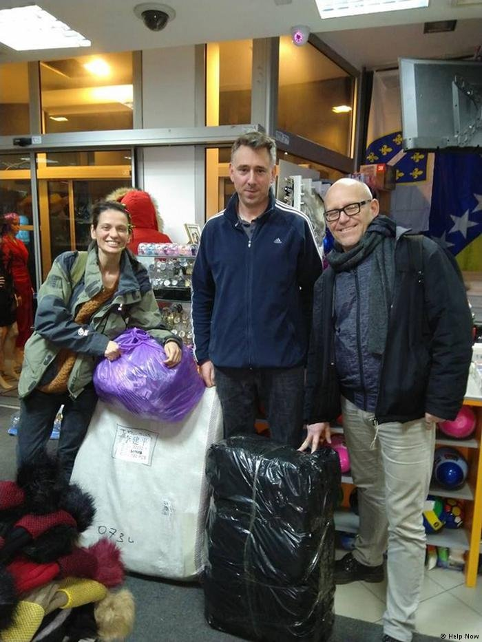 Members of the association Help Now have provided humanitarian aid for migrants and refugees in Velika Kladusa  Photo Help Now