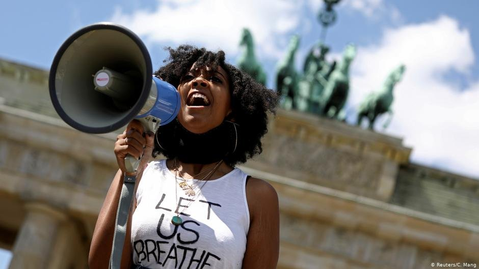 An anti-racism protest in Germany  Photo ReutersCMang