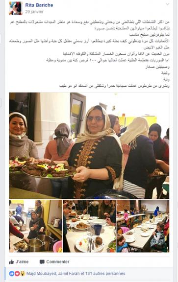 Des femmes syriennes en exil runies autour de la cuisine
