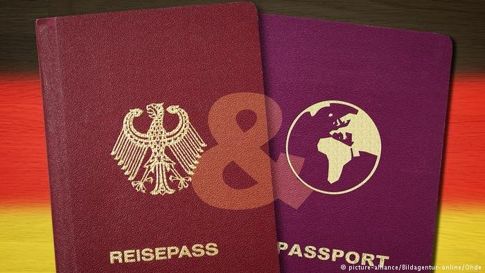 A German and an anonymous passport