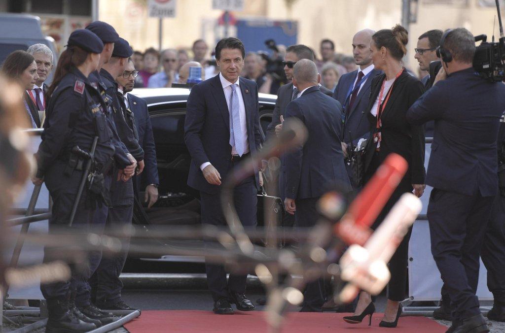 Italy's Prime Minister, Giuseppe Conte, arrives in Salzburg, Austria, September 20, 2018 Credit: EPA/Christian Bruna