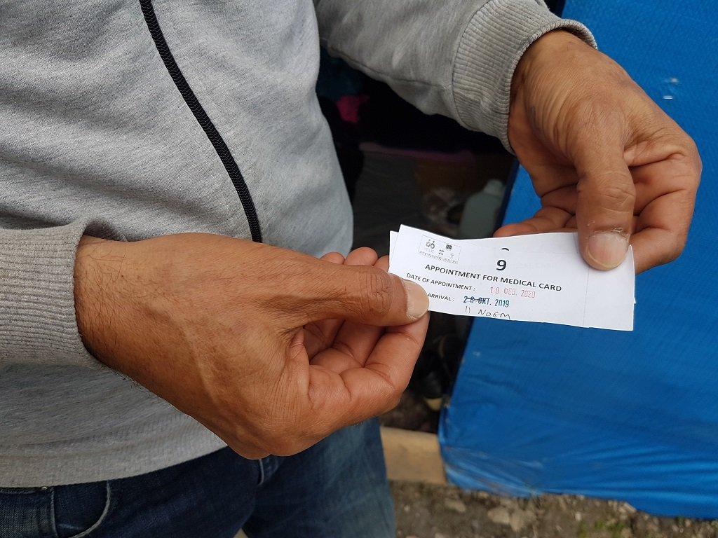 عام كامل بانتظار الفحص الطبي، مخيم فاتي، 29 تشرين الثاني/نوفمبر 2019. شريف بيبي/مهاجر نيوز