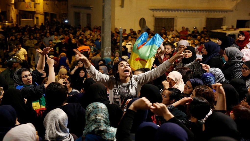 Manifestation à Al Hoceima la semaine dernière. Crédit : Reuters