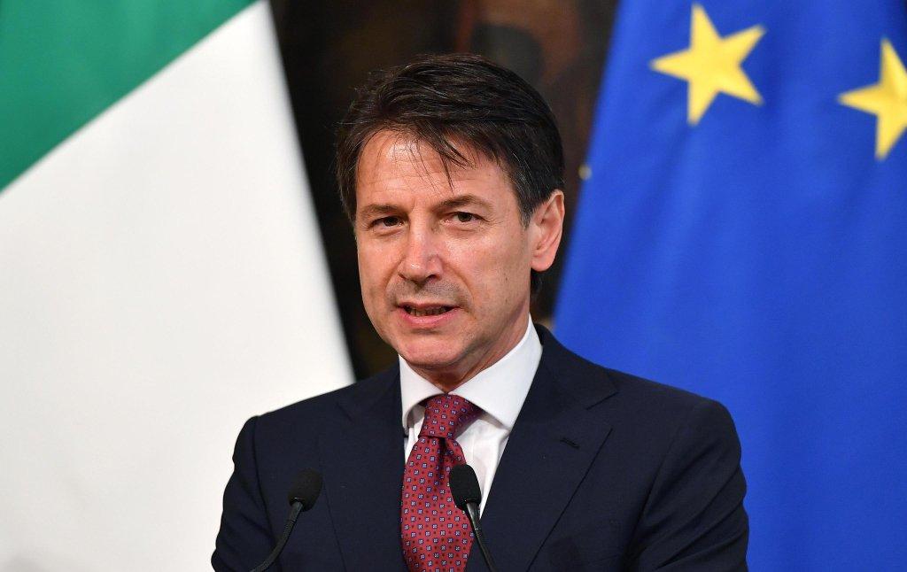 ansa / رئيس الوزراء الإيطالي جوزيبي كونتي.