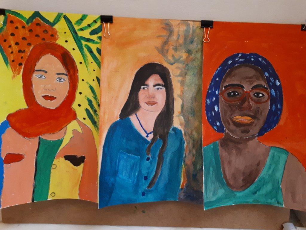Des œuvres réalisées par les étudiantes du Melissa Network