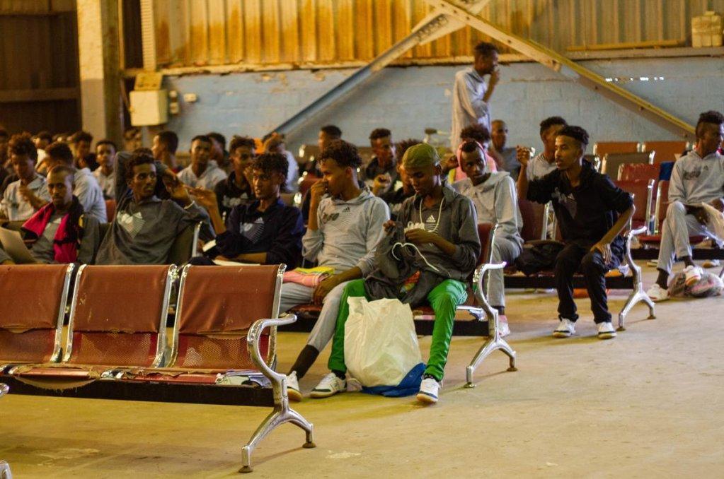 ansa / مساعدة المهاجرين الصوماليين العالقين في ليبيا على العودة إلى الوطن. المصدر: منظمة الهجرة الدولية.