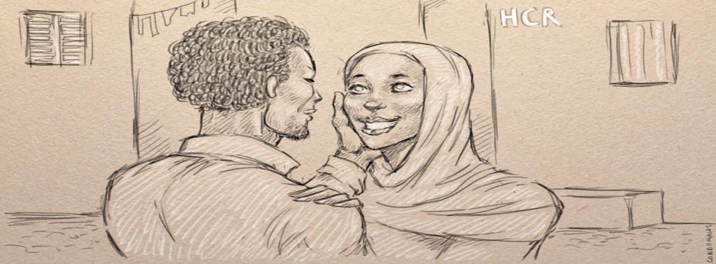 Après s'être enfui, le couple a pu rejoindre Tripoli et être pris en charge par le HCR.