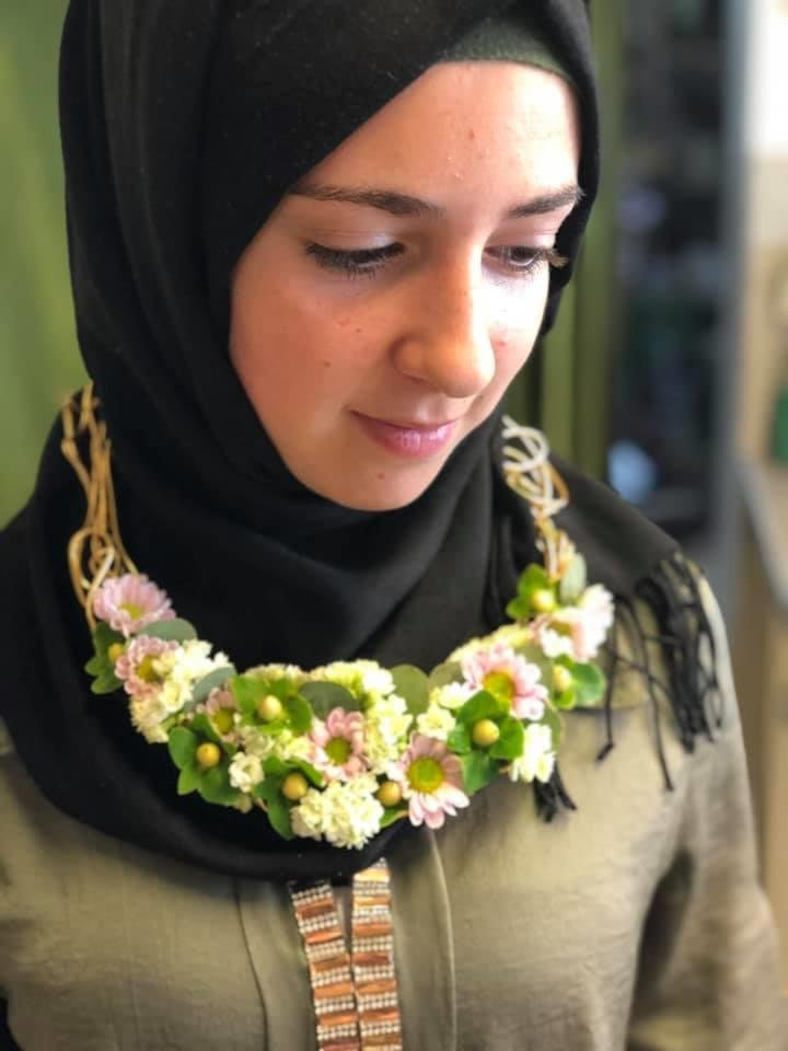 Mayaz finds it hard to imagine the future but she hopes that she can start her apprenticeship at Manu's Blumenbinderei in the autumn  Photo: Private with kind permission of the Blumenbinderei, Furth