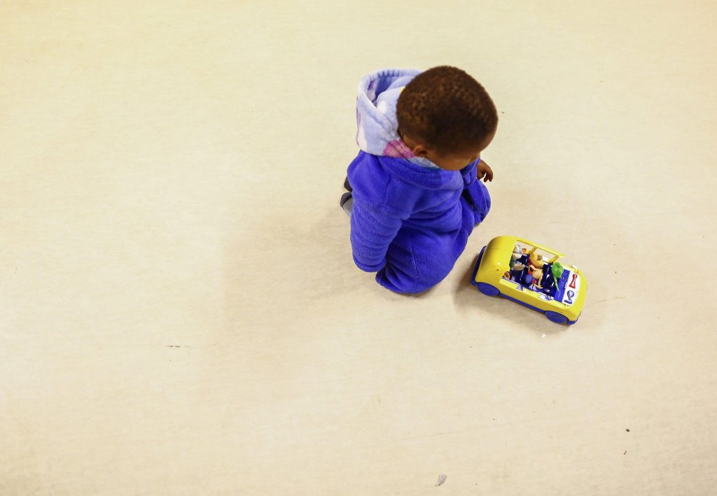 A child plays with his toy. (archive/EPA)