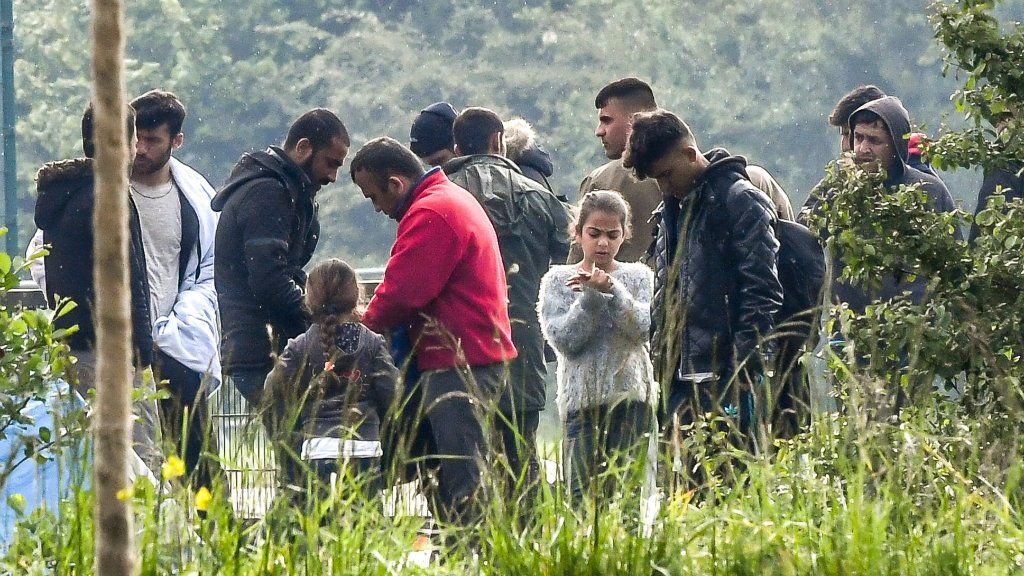 AFP file photo | French officials say most migrants at the Grande-Synthe camp are Iraqi Kurds.