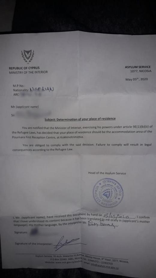 Les migrants ont d signer un document affirmant quils acceptaient de venir dans le camp Crdit  DR