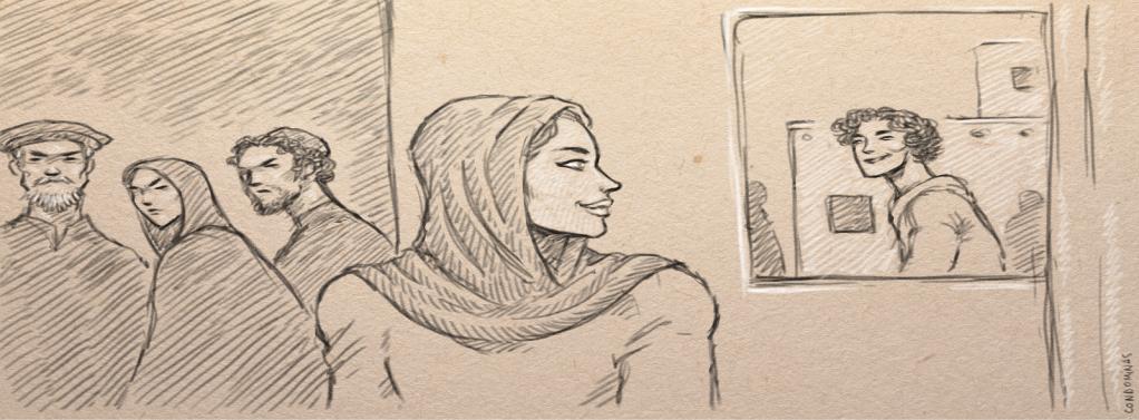 Contre l'avis de sa famille, Nahid a fui l'Afghanistan avec son conjoint.