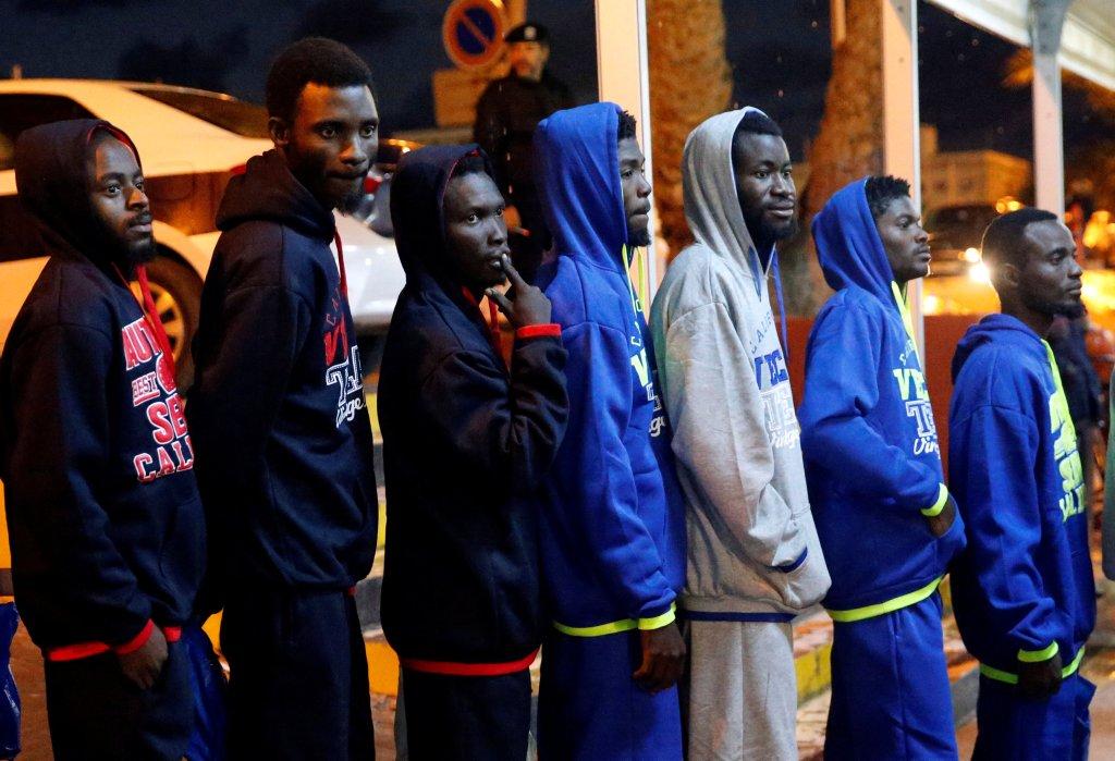 Image d'illustration de migrants rapatriés de Libye, le 5 décembre 2017. Crédit : Reuters