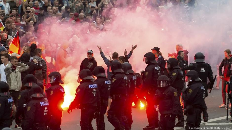 Anti-migrant demonstrations flared in August 2018 in the eastern German city of Chemnitz