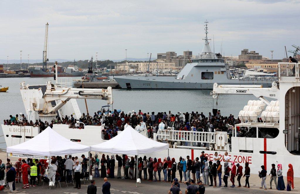 REUTERS/Antonio Parrinello/File Photo |Précédent débarquement de migrants du bateau Diciotti en Sicile, Italie, le 13 juin 2018.