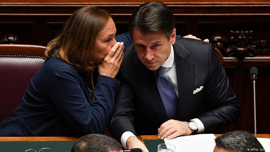 Luciana Lamorgese and Giuseppe Conte  Photo AFPA Solaro