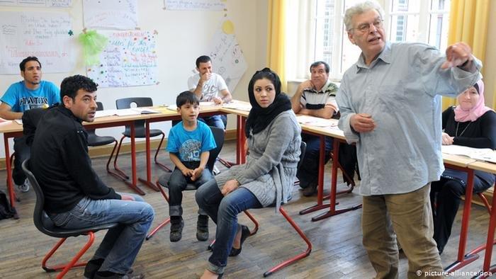یکی از صنوف آموزش زبان و ادغام در آلمان.
