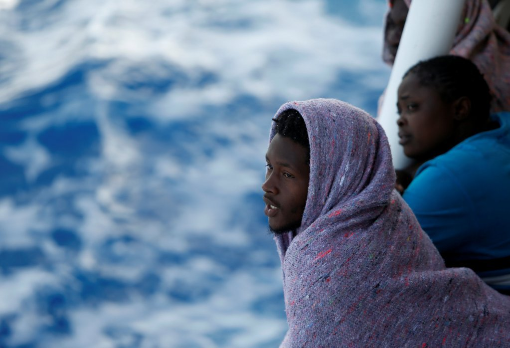 Migrants rescued by a private Maltese organization Migrant Offshore Aid Station.| Photo: Migrant Offshore Aid Station
