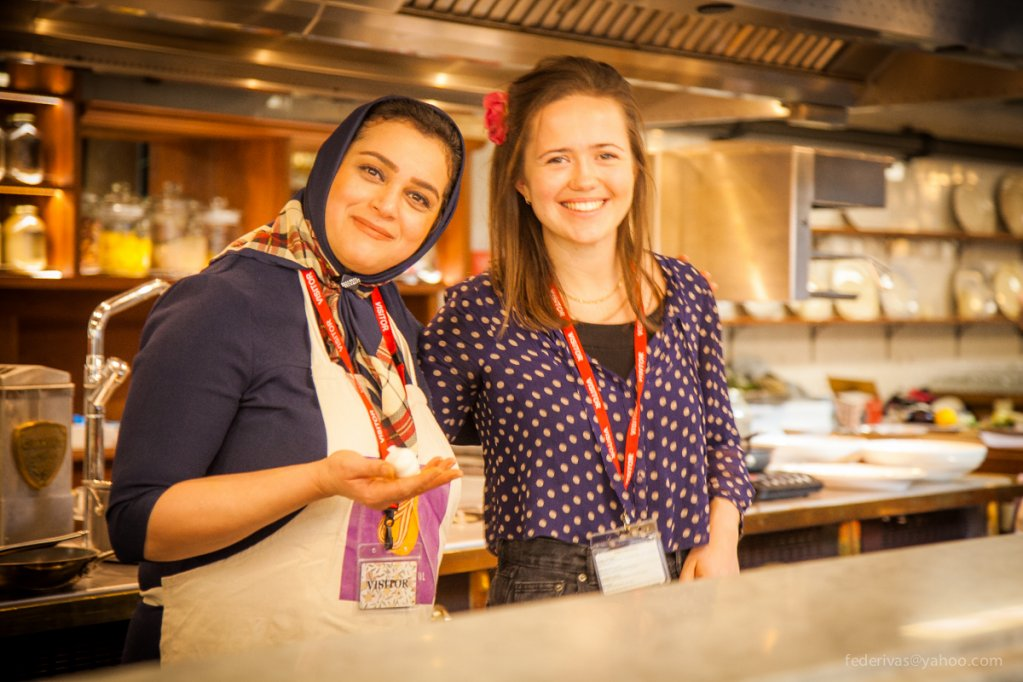 The founder of Migrateful Jess Thompson with one of her Iranian chefs Elahe  Photo With kind permission of Migrateful